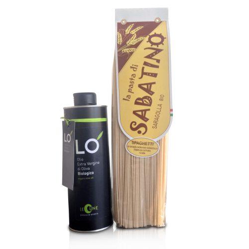 Olijfolie en spaghetti